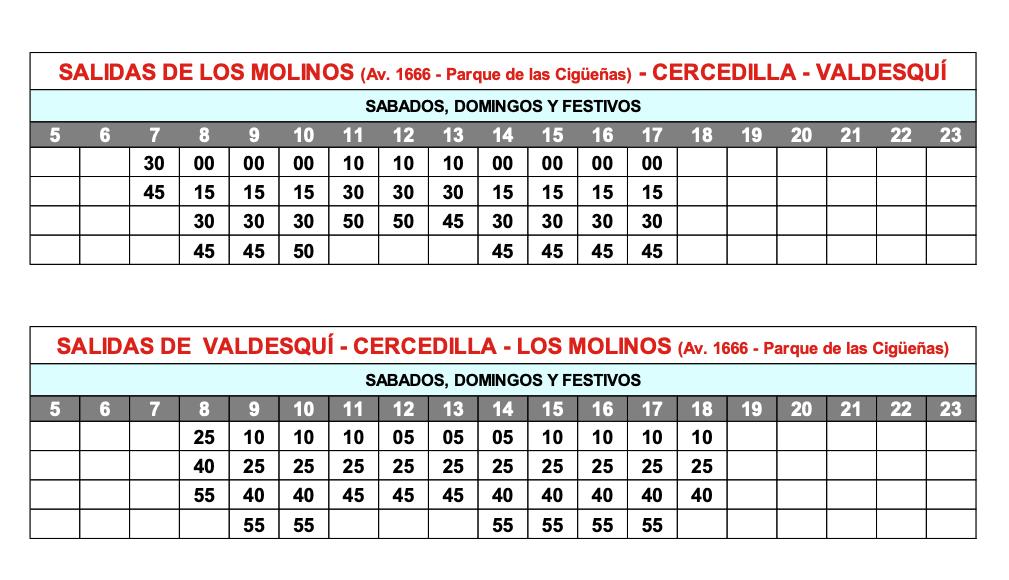 horario autobus al puerto de navacerrada